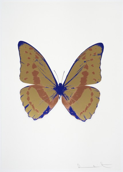 Damien Hirst, The Souls III - Hazy Gold/Rustic Copper/Westminster Blue, 2010