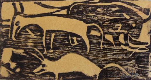 Christian Rohlfs, Tiere auf der Weide (Animals in the Pasture), 1921