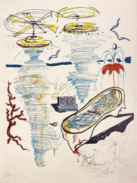 Salvador Dalí, Liquid Tornado Bathtub, 1975-1976