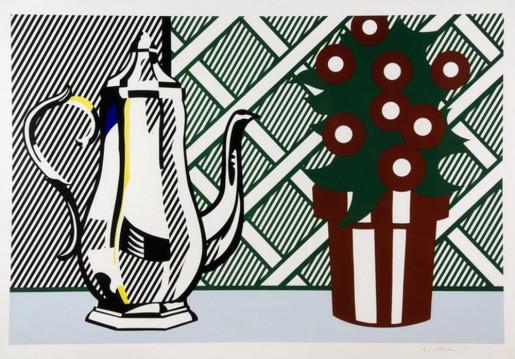 Roy Lichtenstein, Still Life with Pitcher and Flowers, 1974