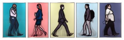 Julian Opie, Walking in London 1, 2014