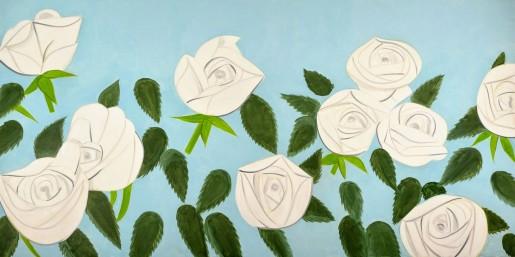 Alex Katz, White Roses, 2014