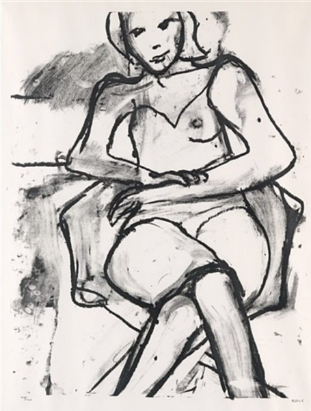Richard Diebenkorn, Seated Woman, 1965