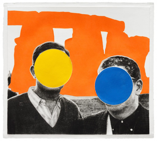 John Baldessari, Stonehenge (With Two Persons) Orange, 2005