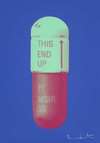 The Cure - Iris Blue/Chalk Green/Charm Pink by Damien Hirst