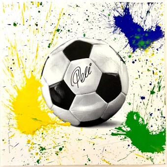 The King Pelé Football by Mr. Brainwash