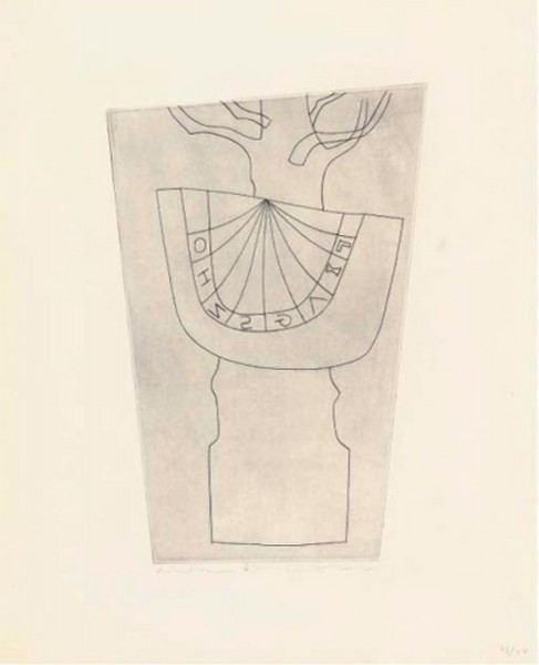Ben Nicholson, Turkish sundial and tree, 1967