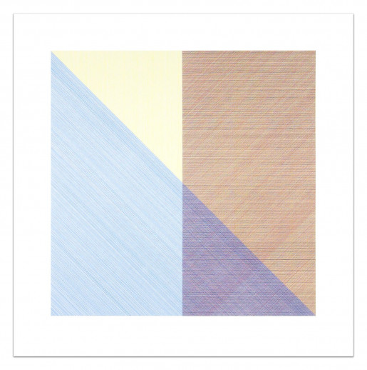 Sol LeWitt, Square with a Different Color in Each Half Square (Divided Horizontally and Vertically), Plate #08, 1980