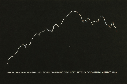 Hamish Fulton, Profilo delle Montagne, 1993