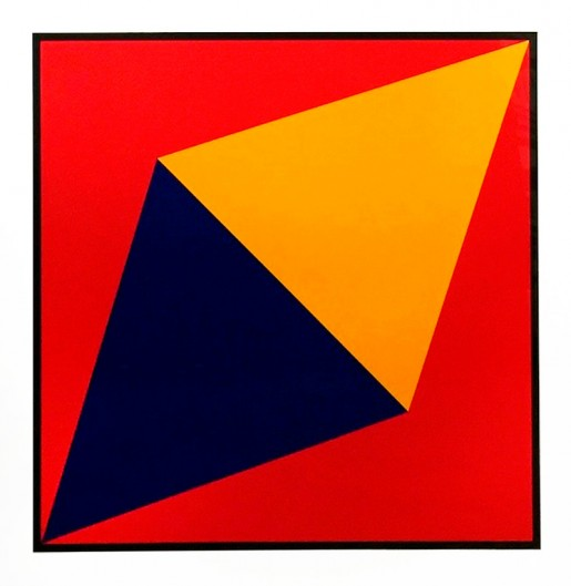 Charles Hinman, Orange Triangle, 2012