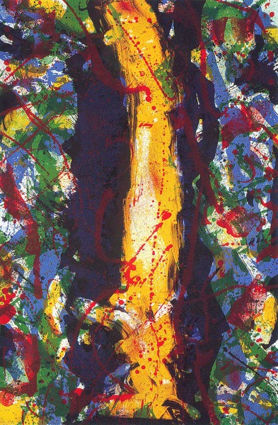Sam Francis, Untitled (yellow down centre), 1990