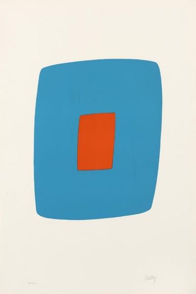 Ellsworth Kelly, Light Blue with Orange, 1964/1965