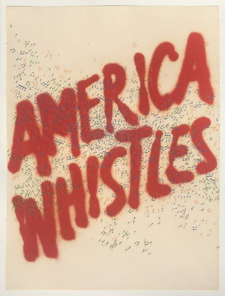 Ed Ruscha, America Whistles, 1975