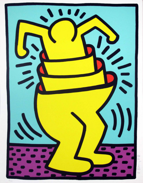 Keith Haring, Untitled (Cup Man), 1989