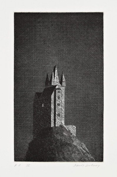 David Hockney, The Haunted Castle (The Boy Who Left Home to Learn Fear), 1969