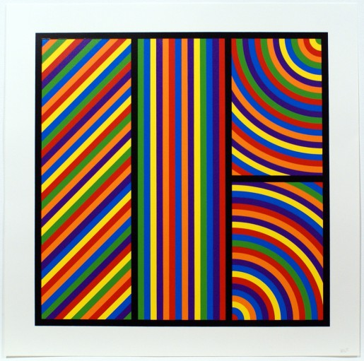 Sol LeWitt, Bands of Equal Width in Colour 5, 2000