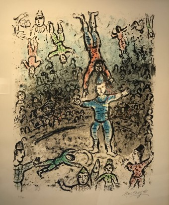 Acrobats by Marc Chagall