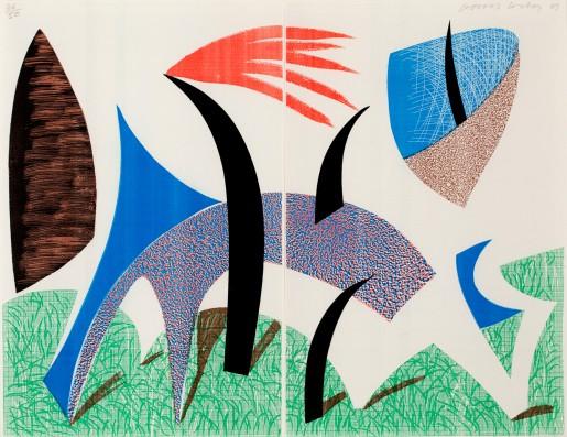 David Hockney, Diptychon, 1989