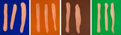 Mr Blue, Mr Orange, Mr Brown, Mr Green  by Günther Förg