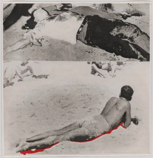 "John Baldessari, Two Figures (One with Shadow) from ""Hegel's Cellar"" Portfolio, 1986"