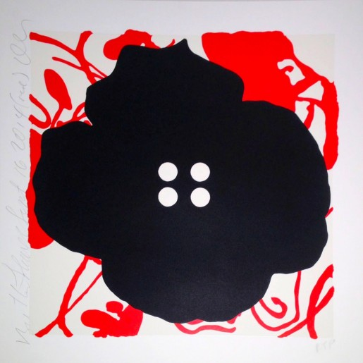 Donald Sultan, Button Flower Red, 2014