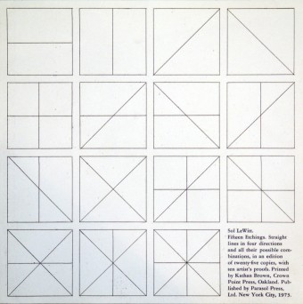 Straight lines in four directions and all their possible combinations by Sol LeWitt