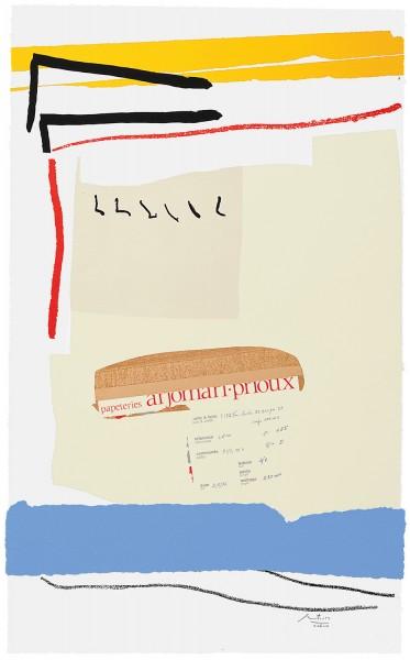 Robert Motherwell, America - La France Variations III, 1984