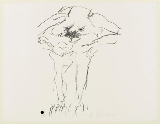 Willem de Kooning, Clam Digger from Portfolio 9, 1967