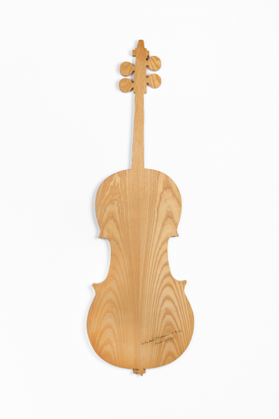 Charlotte Moorman, Wooden Cello, 1975