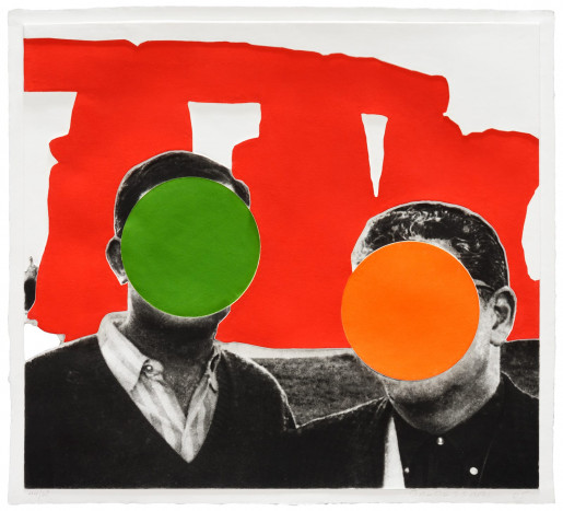 John Baldessari, Stonehenge (With Two Persons) Red, 2005