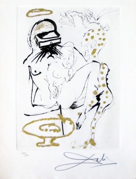 """Salvador Dalí, """"Duel aux Camélias"""" from """"Les Amours Jaunes"""", 1974"""