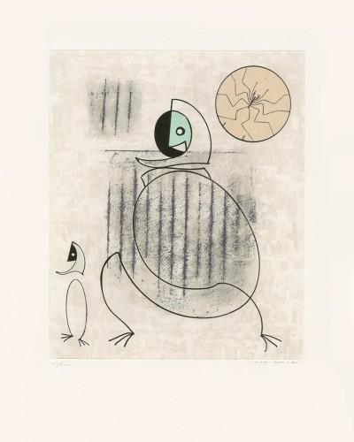 """Mon fiancé est une idée saugrenue, from """"Oiseaux en péril"""" by Max Ernst"""