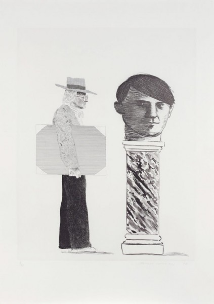 David Hockney, The Student: Hommage to Picasso, 1973