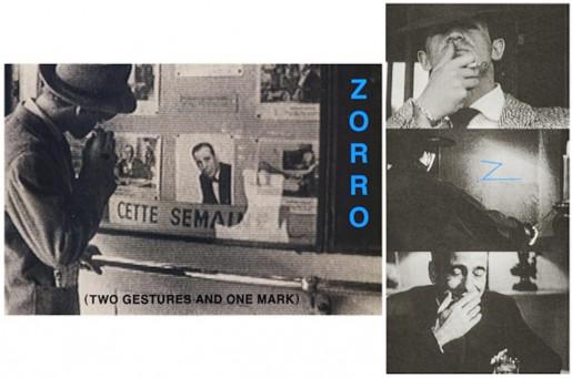 John Baldessari, Zorro (Two Gestures and One Mark), 1998