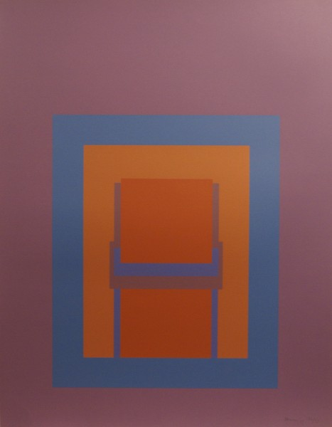 Robyn Denny, Paradise Suite (dark purple with blue/brown inner), 1969