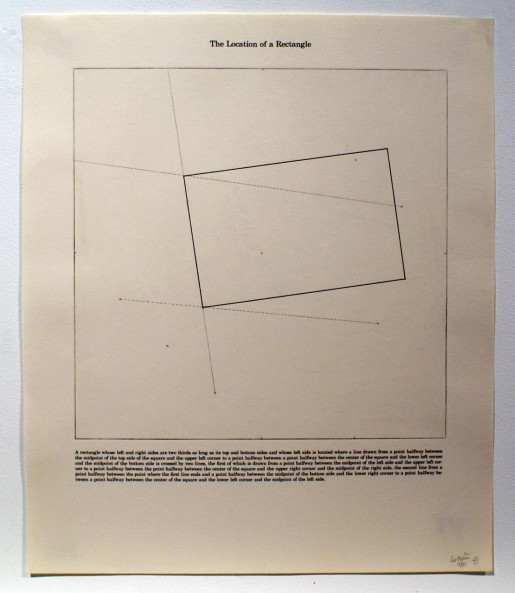 Sol LeWitt, The Location of a Rectangle, 1975