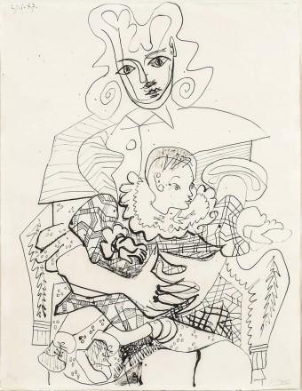 Inès et son enfant by Pablo Picasso