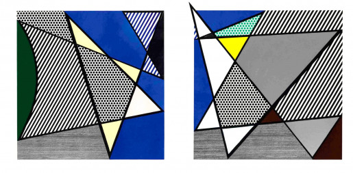 Roy Lichtenstein, Imperfect Diptych, from: Imperfect Series, 1988