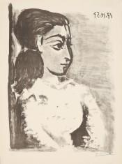 Buste de Femme au Corsage blanc