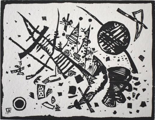 Wassily Kandinsky, Woodcut for the Ganymede Portfolio (Holzschnitt für die Ganymed-Mappe), 1924