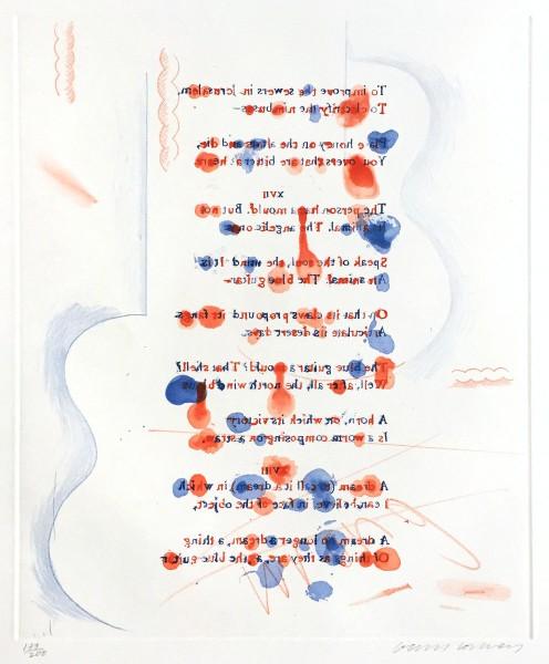 "David Hockney, Made in April (from ""The Blue Guitar"" portfolio), 1976-77"