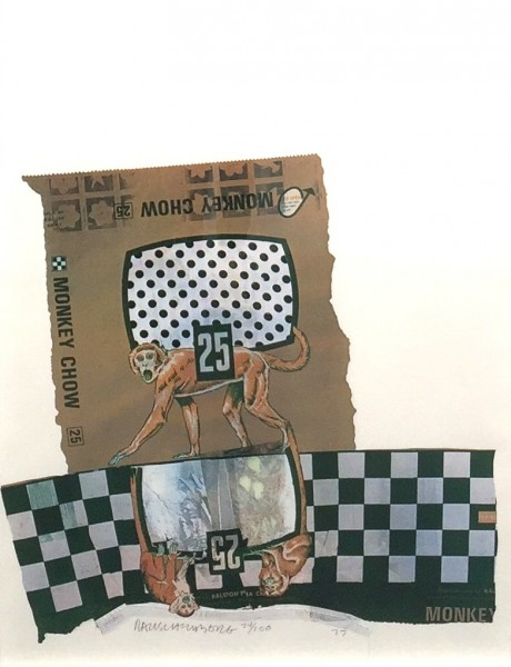 Robert Rauschenberg, Monkey Chow, from Chow Bags, 1977