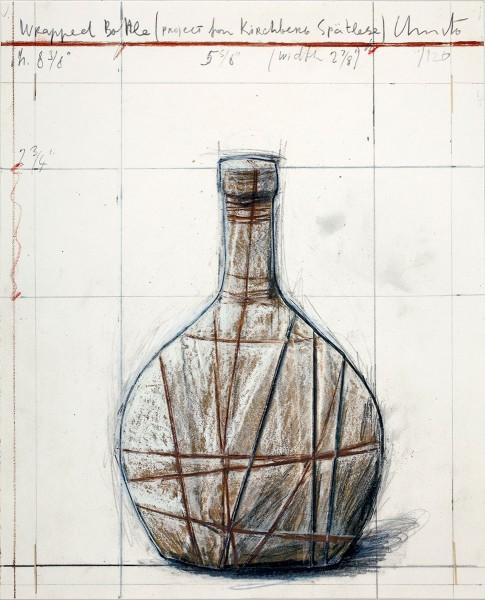 Christo, Wrapped Bottle (Project for Kirchberg Spätlese), 2001/2006