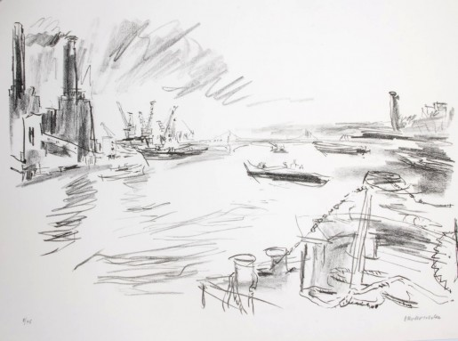Oskar Kokoschka, Battersea Power Station, 1967