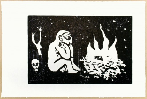 A.R. Penck, Mann am Feuer, 1993