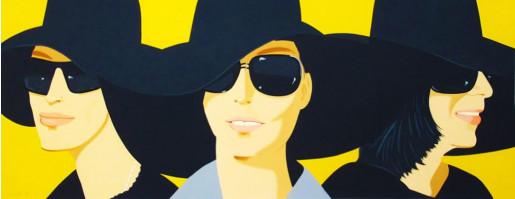 Alex Katz, Black Hats IV, 2012