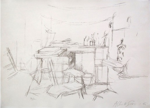 Alberto Giacometti, The Studio with Bottles | L'Atelier aux Bouteilles, 1957