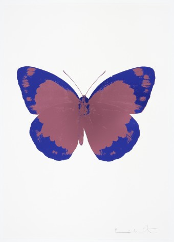 The Souls II - Loganberry Pink/Westminster Blue/Blind Impression by Damien Hirst