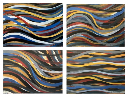 Sol LeWitt, Brushstrokes: Horizontal and Vertical, 1996
