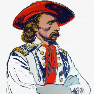 """General Custer (FS II.379), from the Portfolio """"Cowboys and Indians"""" by Andy Warhol"""